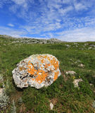 Old stone in mountains Royalty Free Stock Photography