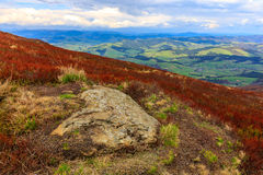 Old stone in mountains Royalty Free Stock Images