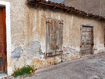 Old Stone and Mud Shed, Greece Stock Photo