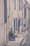 Old Stone Narrow Streets of small Provence town, France Stock Photo
