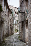 Old Stone Narrow Streets of Trogir, Croatia Stock Images