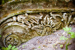 Old Stone ornament Royalty Free Stock Photos