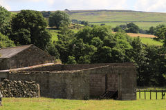 Old stone outbuildings stock photo