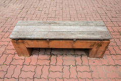 Old stone park bench Royalty Free Stock Image