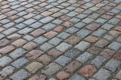 Old stone paved avenue street road Stock Image