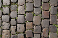 Old stone pavement. Historic stone pavement, street in Prague stock photography