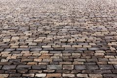 Old stone pavement texture. Russia, Moscow, Red Square. Texture of cobblestone road, Moscow, Russia, Red Square Royalty Free Stock Images