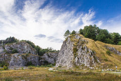 Old stone quarry II Royalty Free Stock Photos
