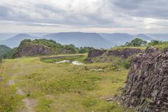 Old Stone quarry in Morro do Gaucho mountain landscape Stock Photos