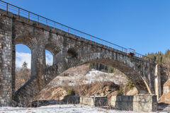 Old stone railway bridge Royalty Free Stock Image