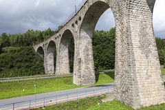 Old stone railway viaduct Royalty Free Stock Photos