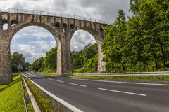Old stone railway viaduct Royalty Free Stock Images