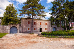 Old stone residence in Cetinje, Montenegro. Royalty Free Stock Images