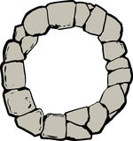 Old Stone Ring for Well or Letter O Stock Photos