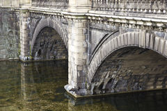 Old stone river bridge Royalty Free Stock Image