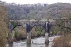 Old stone river bridge Royalty Free Stock Image