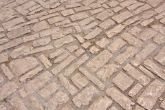 Old stone road. Old, stone road in the city Stock Photography