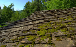 Old stone roof Stock Photography
