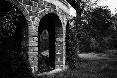 Old stone ruined gazebo Stock Images