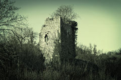 Old stone ruins of a ancient  watchtower Royalty Free Stock Image