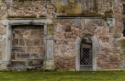 Old Stone Ruins. Outside Wall Of Stone Ruins Royalty Free Stock Photo