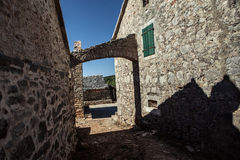 Old stone rustic house Stock Images