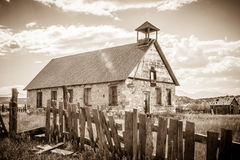 Old Stone School in Malachite Colorado Royalty Free Stock Images