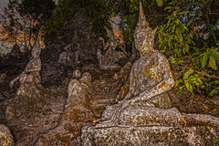 Old stone sculpture in Thailand. Stock Images