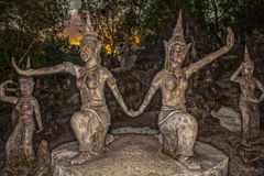 Old stone sculpture in Thailand. Royalty Free Stock Image