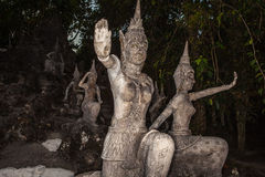 Old stone sculpture in Thailand. Stock Image