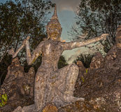 Old stone sculpture in Thailand. Stock Photo