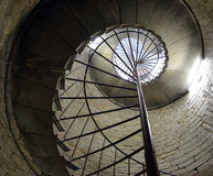 Old stone spiral staircase, background Stock Image