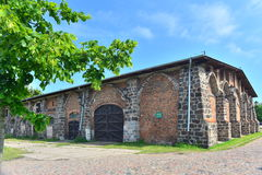 Old stone stable Stock Photo