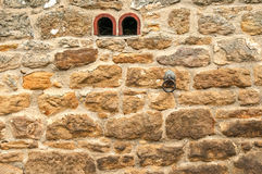 Old Stone Stable Wall with Tether Ring Royalty Free Stock Images