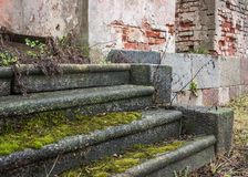 Old stone stair treads Royalty Free Stock Photography