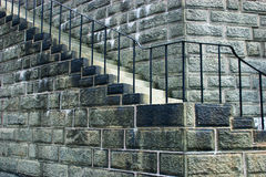 Old Stone Staircase royalty free stock photos