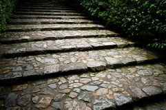 Old stone staircase Stock Photography