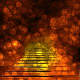 Old stone staircase with blur bokeh Royalty Free Stock Photo