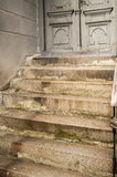 Old stone staircase and door Royalty Free Stock Photo