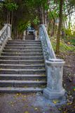 Old stone staircase with handrails Royalty Free Stock Photography