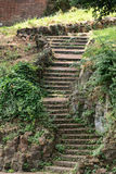 Old stone staircase on the hill Janiculum in Rome. Royalty Free Stock Images