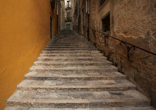 Old stone staircase leads up Royalty Free Stock Photography