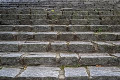 Texture of a stone staircase royalty free stock photography