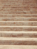 Old stone staircase with perspective effect Royalty Free Stock Photography