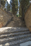Old stone staircase Stock Image
