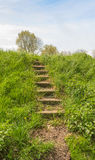 An old stone staircase upwards Stock Photo