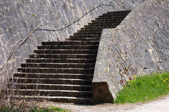 Old stone stairs. Royalty Free Stock Photos