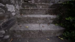 Old stone stairs in the country side