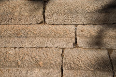 Old stone stairs detail. Beautiful old stone stairs. Natural dark stone steps in summer park Stock Image