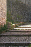 Old stone stairs of fortress Royalty Free Stock Photo